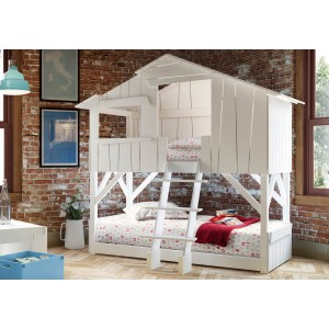 Treehouse Bunk Bed - White