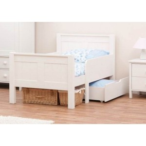 Stompa Classic Kids White Starter Bed And Foam Mattress-