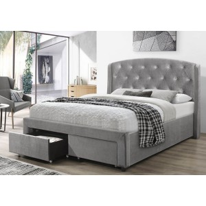 Flair Furnishings Ellen Velvet Drawer Bed Frame -
