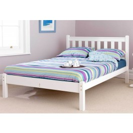 Friendship Mill Shaker White Wooden Bed Frame