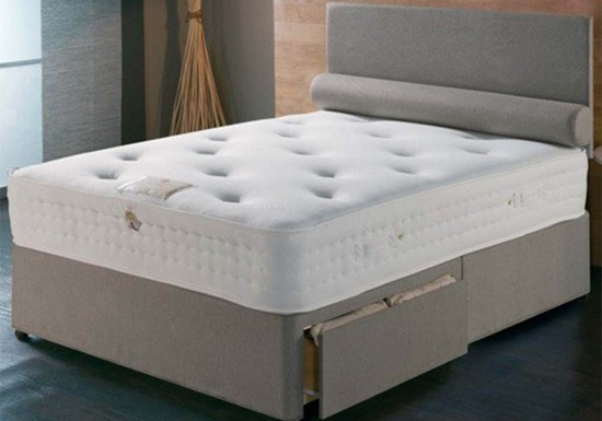 Vogue Beds New Viscount 70mm Memory 800 Divan Bed-