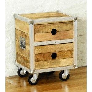 Baumhaus Roadie Chic Lamp Table / Bedside Table-