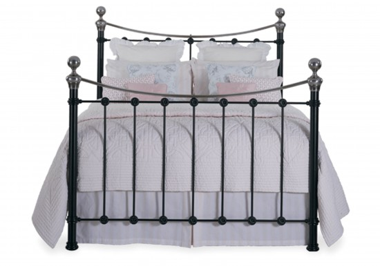 Original Bedstead Company Selkirk Chromo Iron Bedstead-color Satin Black