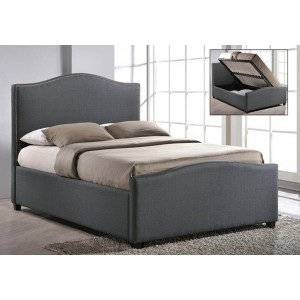 Time Living Brunswick Fabric Ottoman Bed Frame-