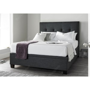 Kaydian Walkworth Fabric Ottoman Bed in Slate-