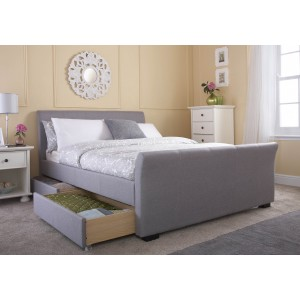 GFW Hannover 4 Drawer Fabric Bed Frame-