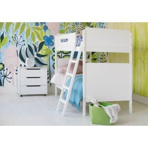 Little Folks Furniture Simple Bunk Bed in White-