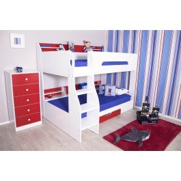Flair Furnishings Flick Bunk Bed Red And White