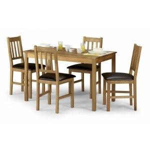 Julian Bowen Coxmoor Oak 4 Seater Dining Set