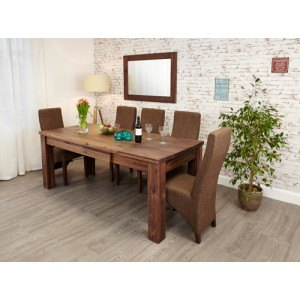 Baumhaus Mayan Walnut Extending Dining Table -