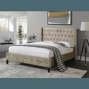 Ambers International Aspara Mink Crushed Velvet Bed Frame