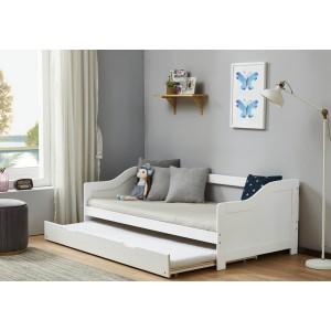 Birlea Brixton White Guest Bed Frame-