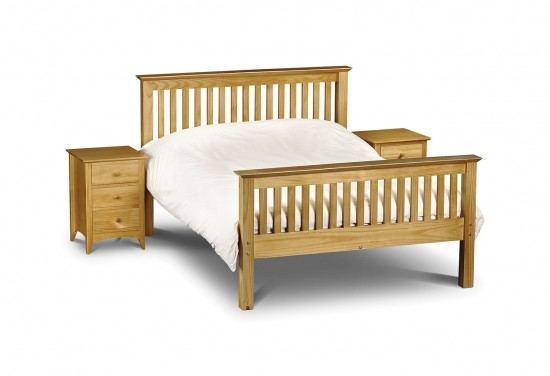 Julian Bowen Barcelona High Foot End Bed Frame-color Pine