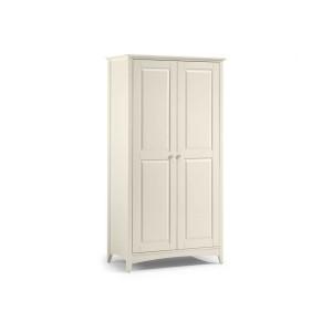 Julian Bowen Cameo Stone White 2 Door Wardrobe-