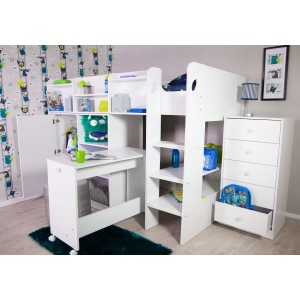 FLAIR FURNISHINGS WIZARD JUNIOR HIGH SLEEPER WORKSTATION