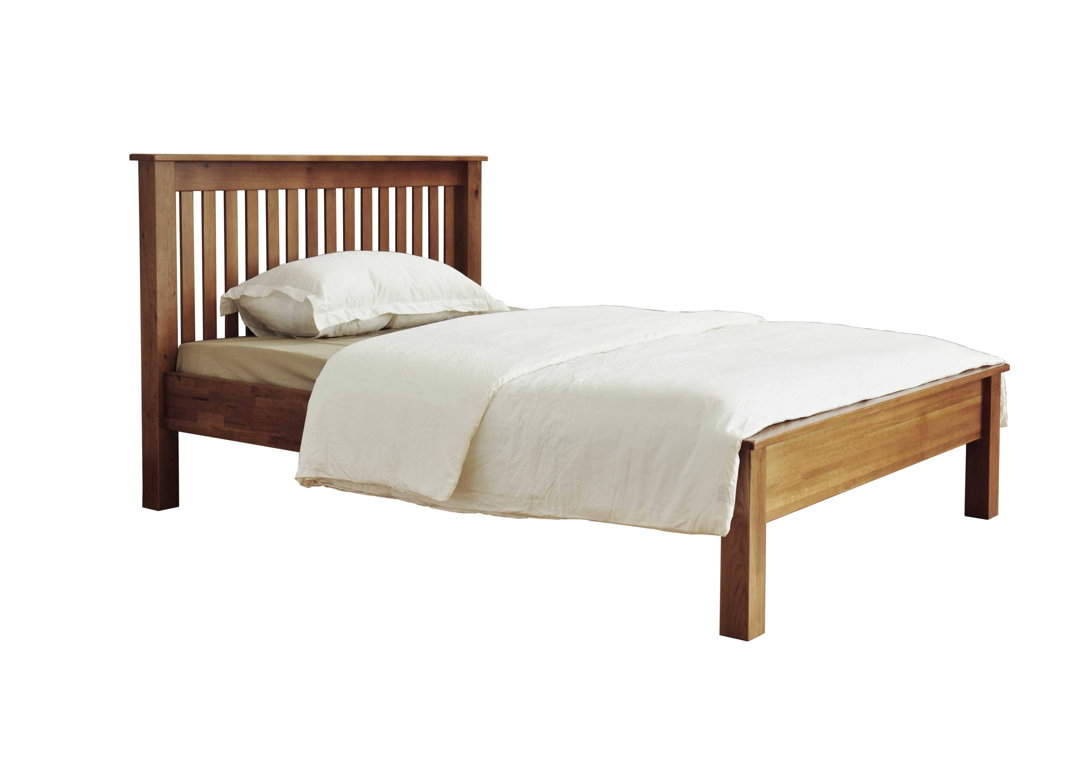 Fortune Wood Rustic Low Foot End Bed Frame