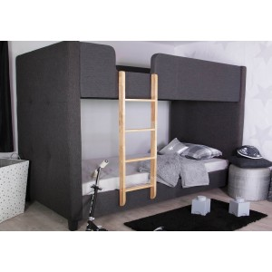 Flair Furnishings Frankie Grey Fabric Bunk Bed