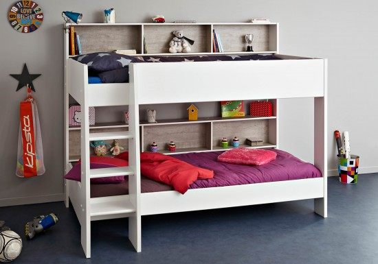 Parisot Tam Tam 3 Bunk Bed-color White