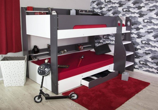 Flair Furnishings Flick Bunk Bed Grey