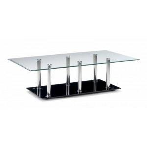 Julian Bowen Alpha Glass Chrome Coffee Table