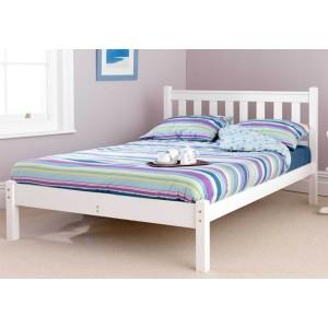 Friendship Mill Shaker White Wooden Bed Frame-