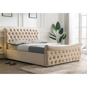 A2 Clearance - Flair Furnishings Lucinda Side Lift Ottoman - Beige - Kingsize-