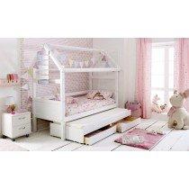 Flexa Nordic Playhouse 2 Bed Frame-