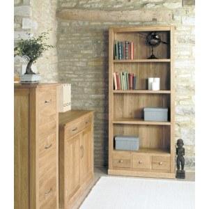 Baumhaus Mobel Oak Large 3 Drawer Bookcase-