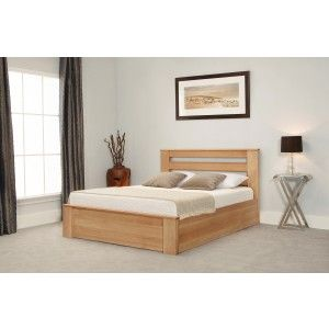 Emporia Beds Charnwood Solid Oak Ottoman closed