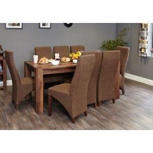 Baumhaus Walnut Large Dining Table (Seats 6-8)