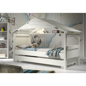 Mathy By Bols Star Treehouse Bed Frame - White