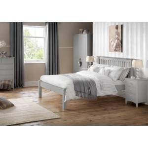 Julian Bowen Barcelona Dove Grey Bed Frame-