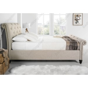 Kaydian Belford Fabric Sleigh Bed-