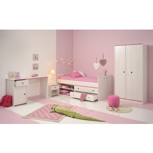 Parisot Smoozy Pink or Blue Compact Bed Frame-