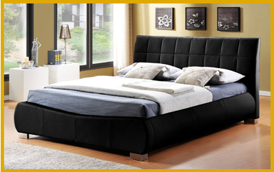 Unique qualities of leather king size beds for Unusual king size beds