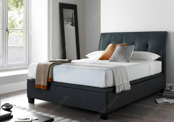 Kaydian Accent Fabric Ottoman Bed Frame