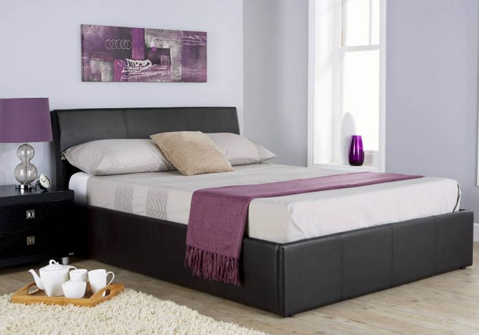 GFW Ascot Faux Leather Ottoman Bed Frame