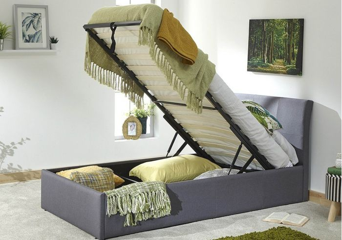 GFW Ascot Fabric Ottoman Bed Frame