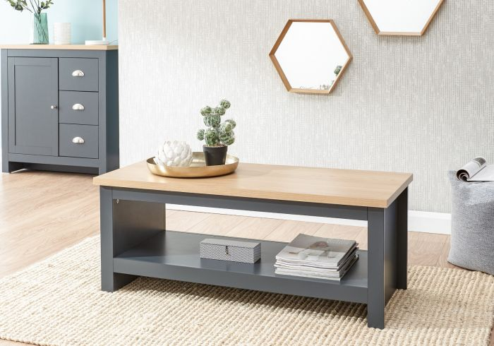 GFW Lancaster Coffee Table With Shelf