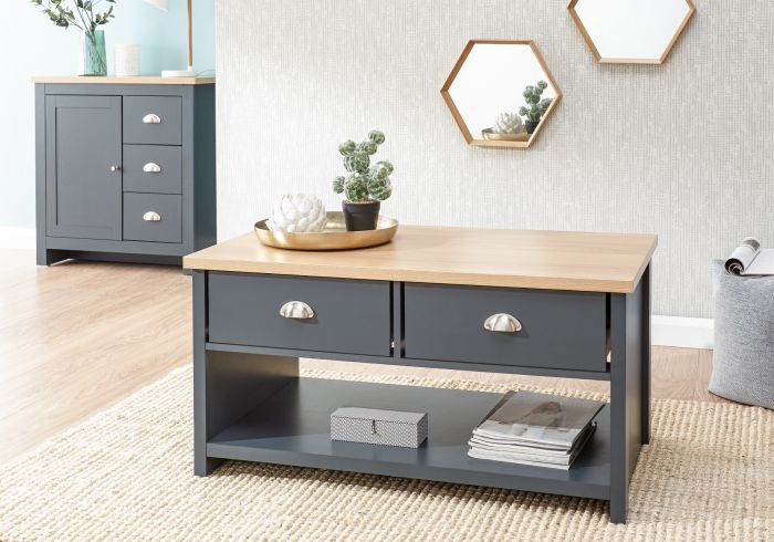 GFW Lancaster 2 Drawer Coffee Table