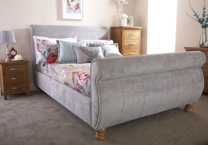 GFW Chicago Fabric Sleigh Bed