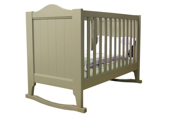 Mathy By Bols Lime Cot with Rockers