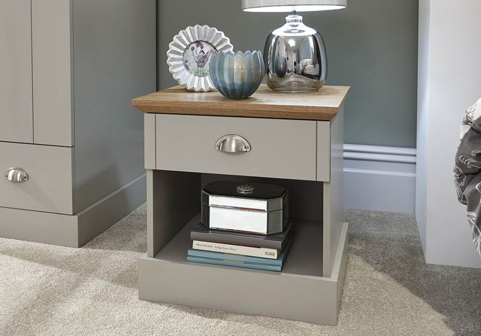 GFW Kendal 1 Drawer Bedside Table