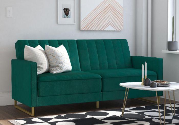 Novogratz Skylar Velvet Sofa Bed