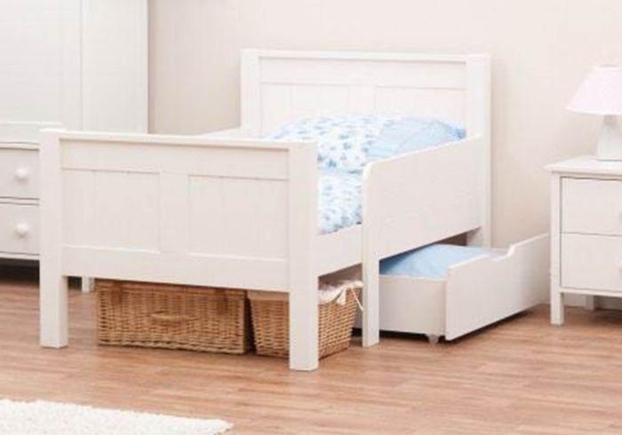 Stompa Classic Kids White Starter Bed And Foam Mattress