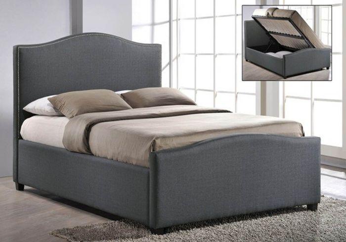 Time Living Brunswick Fabric Ottoman Bed Frame