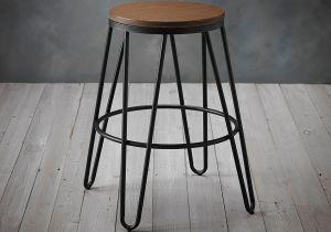 LPD Ikon Wood Seat With Metal Hairpin Leg Bar Stool