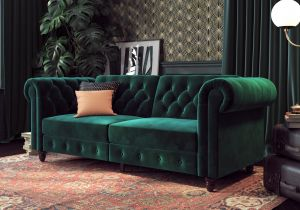 Dorel Felix Chesterfield Sofa Bed