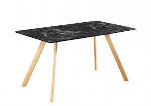 LPD Venice Dining Table Marble Effect