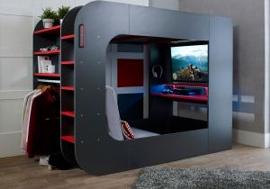 Podbed Gaming Highsleeper with Chair Bed